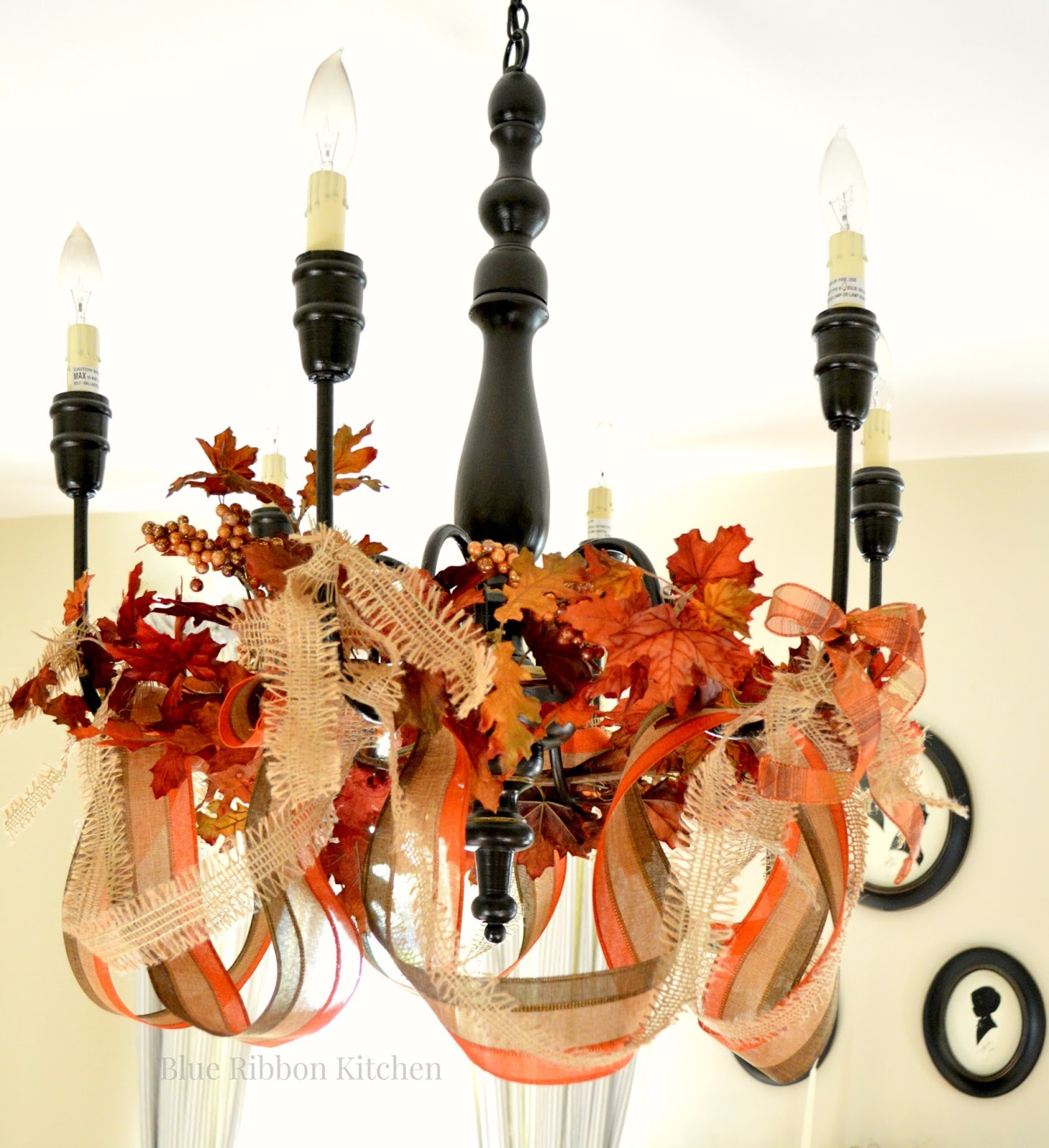 Blue Ribbon Kitchen Thanksgiving Chandelier and BIG news