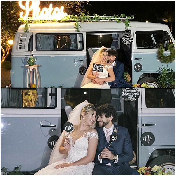 decoração casamento niina secrets kombi de fotos