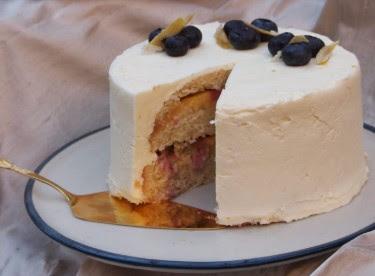 Blueberry Lemon Chiffon Cake