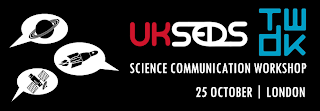 UKSEDS TWDK science communication workshop banner