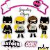 Batgirl: Toppers para Tartas, Tortas, Pasteles, Bizcochos o Cakes para Imprimir Gratis.