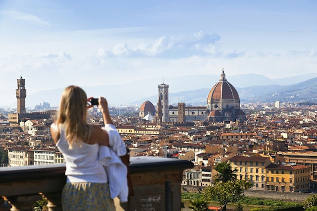 Piazzale Michelangelo em Florença na Toscana