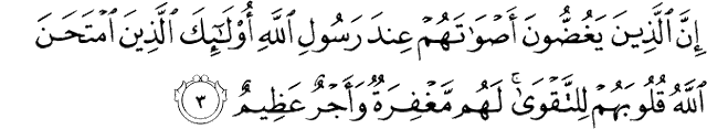Surat Al-Hujurat ayat 3