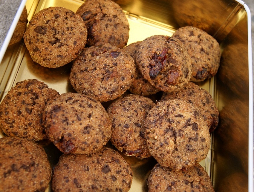 Czekoladowe ciasteczka jaglane