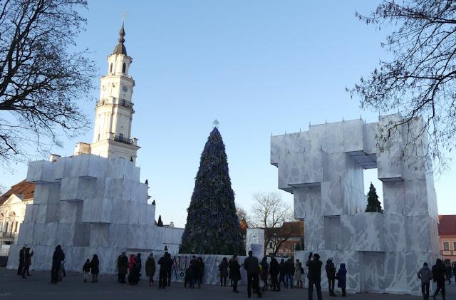 Weihnachtsmarkt in Kaunas, Litauen