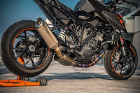 KTM Super Duke 1290 on a Stand