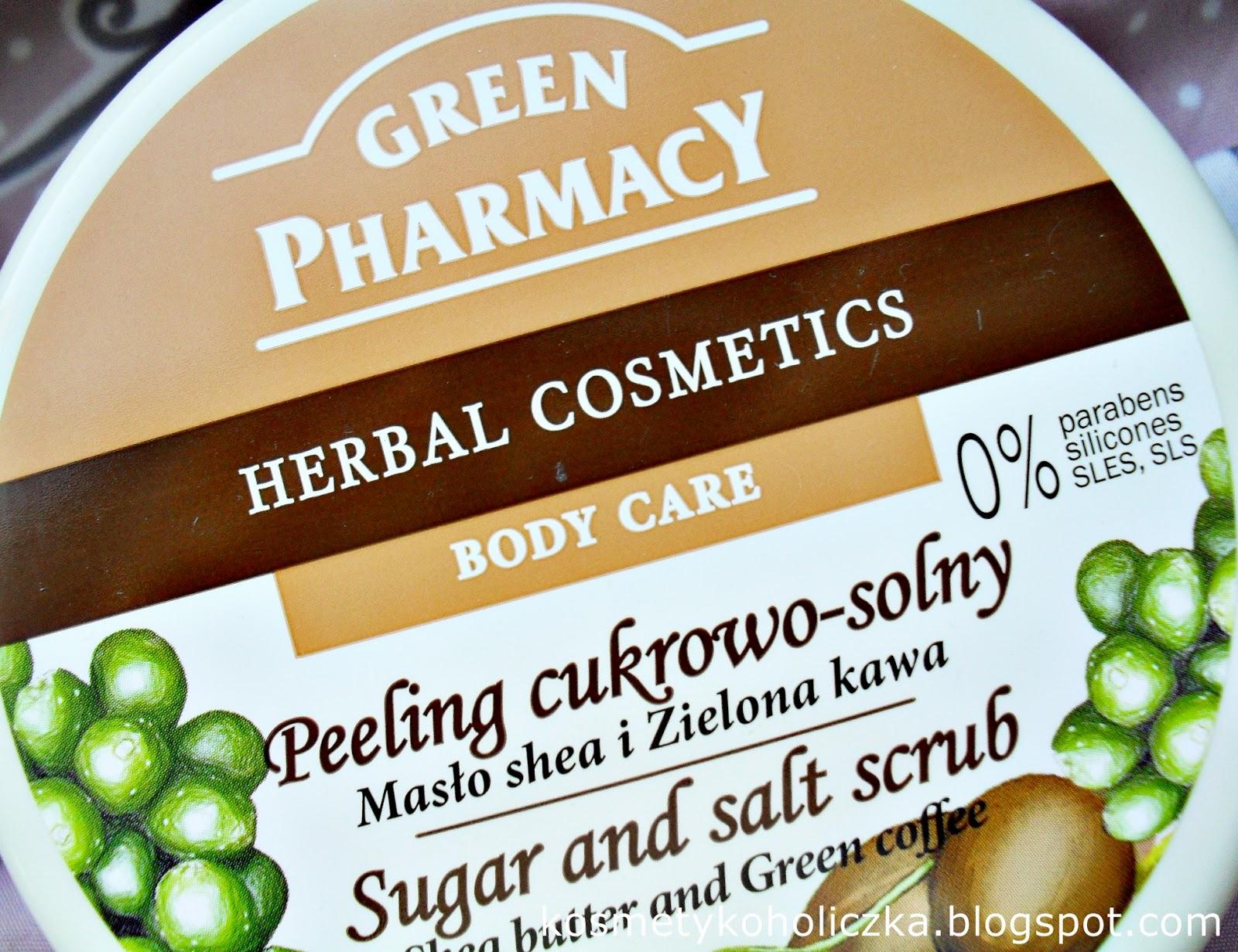 Green Pharmacy | Peeling cukrowo-solny Masło shea i Zielona kawa