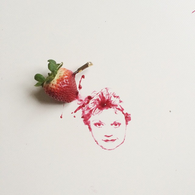17-Strawberry-Bernulia-Doodle-Drawings-and-Paintings-with-Food-Art-www-designstack-co