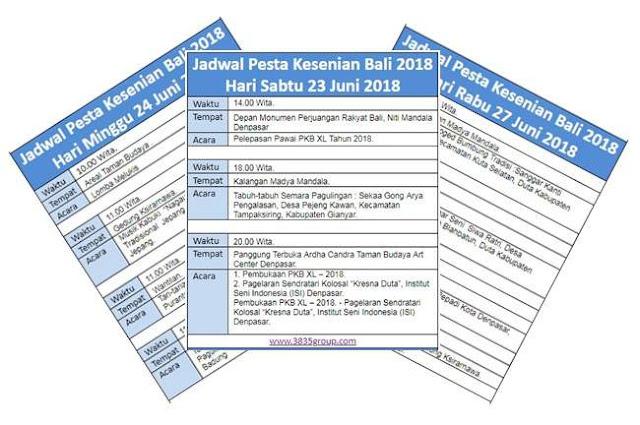 Jadwal Pesta Kesenian Bali (PKB) 2018