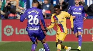 بهدفين لهدف برشلونة يحقق فوز صعب خارج ملعبه امام ليغانيس في الدوري الاسباني
