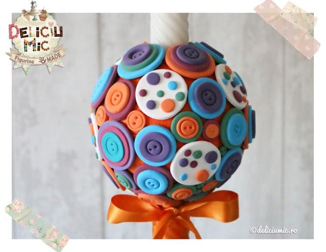lumanare pt botez handmade