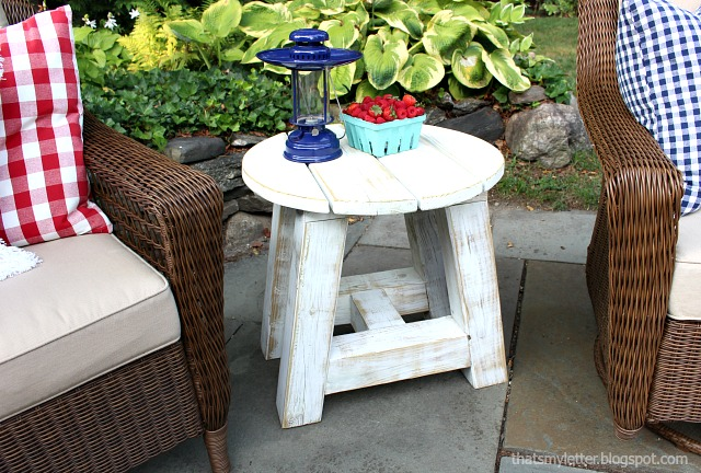 truss beam side table