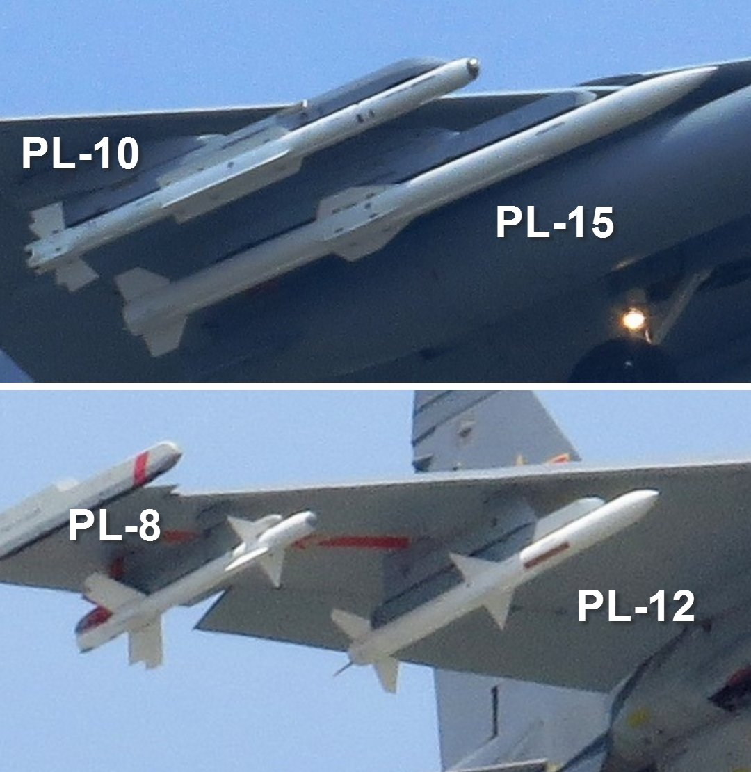 Pl Pl: Chinese J-10 C Spotted Carrying PL-10 And PL-15 New