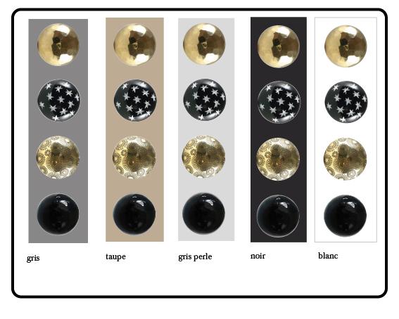 bouton de tiroir or, bouton de placard etoile