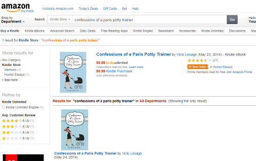 Confessions of a Paris Potty Trainer #1 Amazon Best Seller