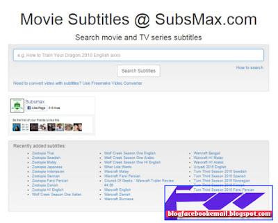 daftar situs download subtitle terlengkap subsmax.com