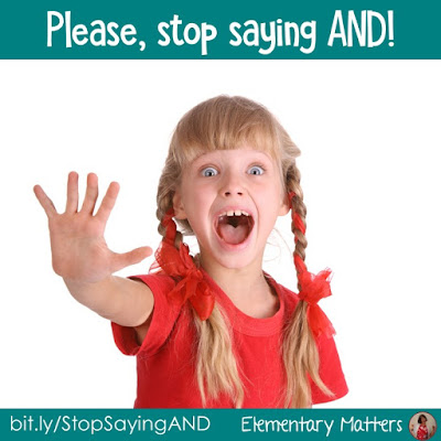 Please stop saying AND! This post tells about one of my pet peeves when it comes to numbers. Are you doing this?