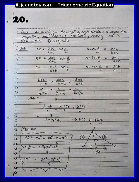 trigonometry equation cbse