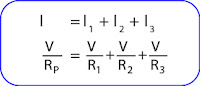Mencari hambatan pengganti rangkaian paralel resistor