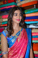 Puja Hegde looks stunning in Red saree at launch of Anutex shopping mall ~ Celebrities Galleries 073.JPG
