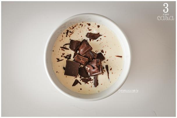 ganache de chocolate passo a passo