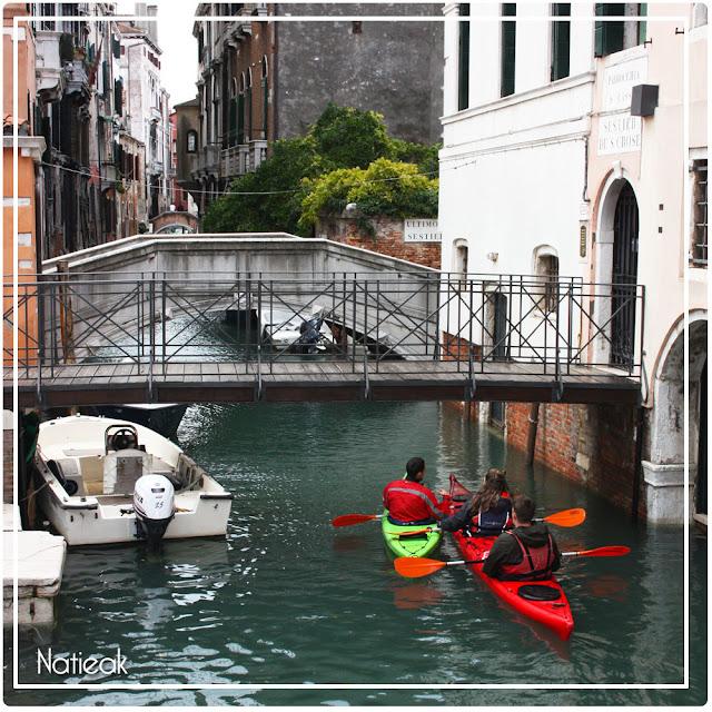 Promenade en kayak à Venise
