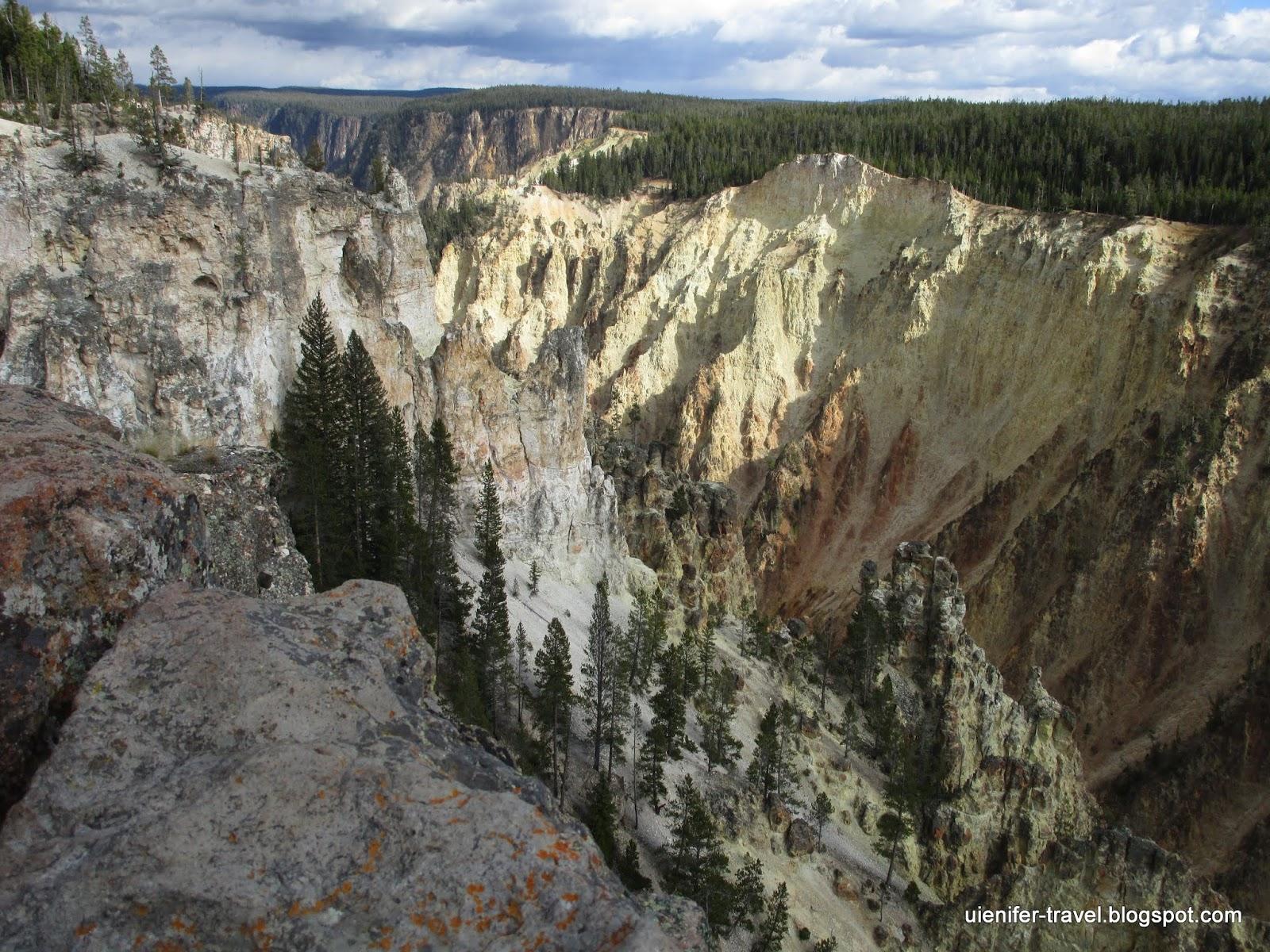 Большой Каньон Йеллоустоуна. Йеллоустоун, Вайоминг (Grand Canyon of the Yellowstone. Yellowstone National Park, WY)