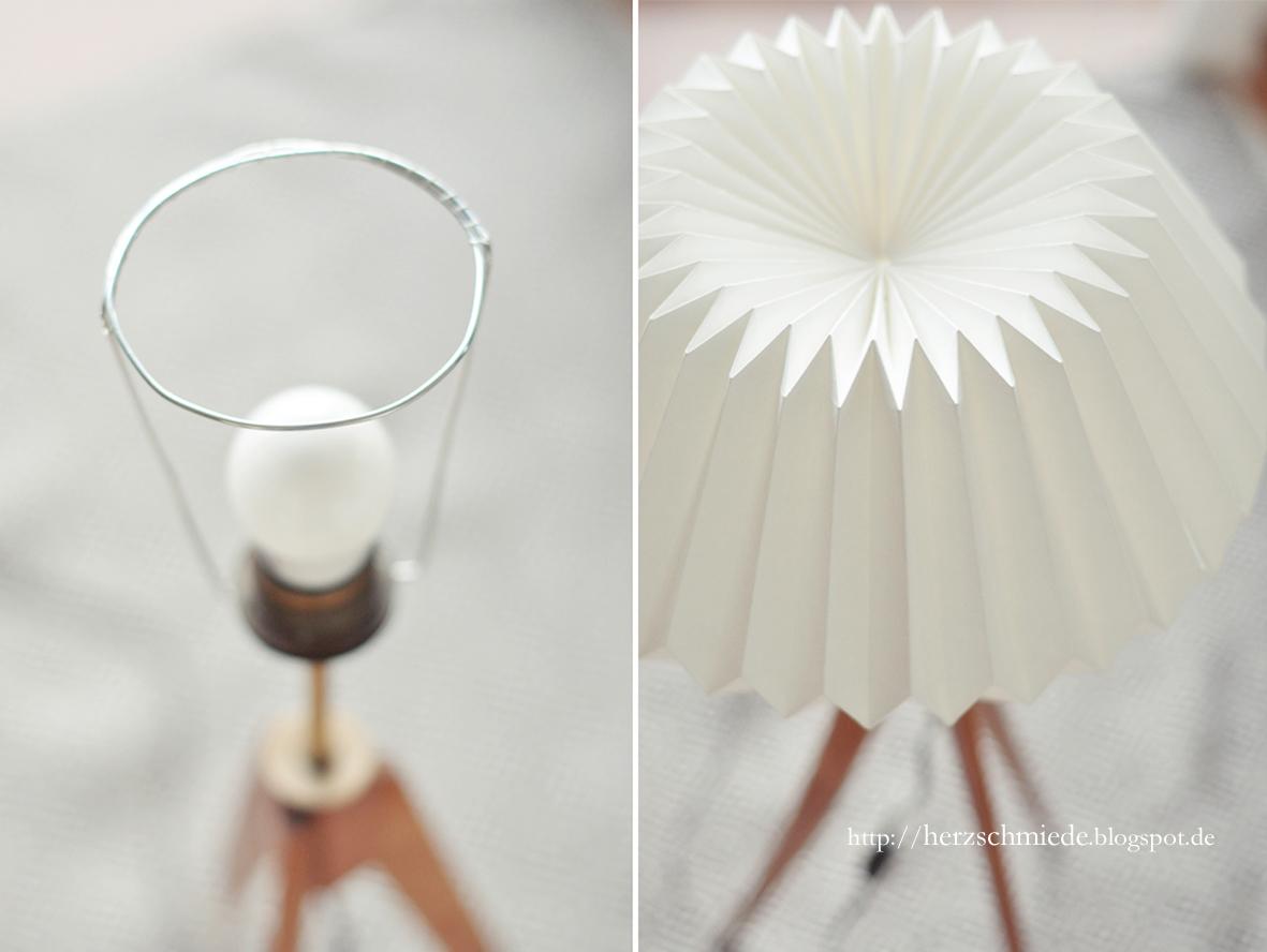 Plissee Lampenschirm Cocoon Stehlampe Plissee 50er Okay Art