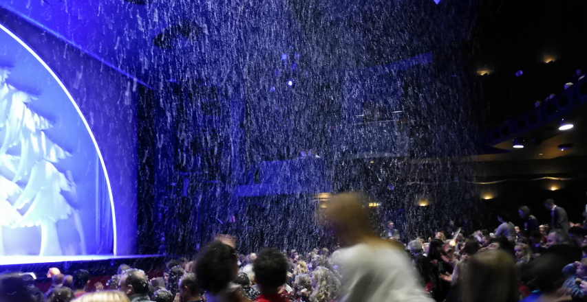 Snowed on the audience in the stalls at The Snowman