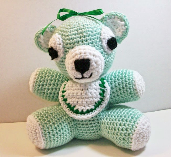 Plush Green Baby Bear