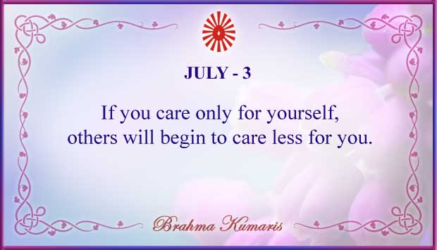 Thought For The Day July 3