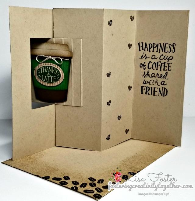 Coffee Café, Fun Fold, Lever Card, Stampin up