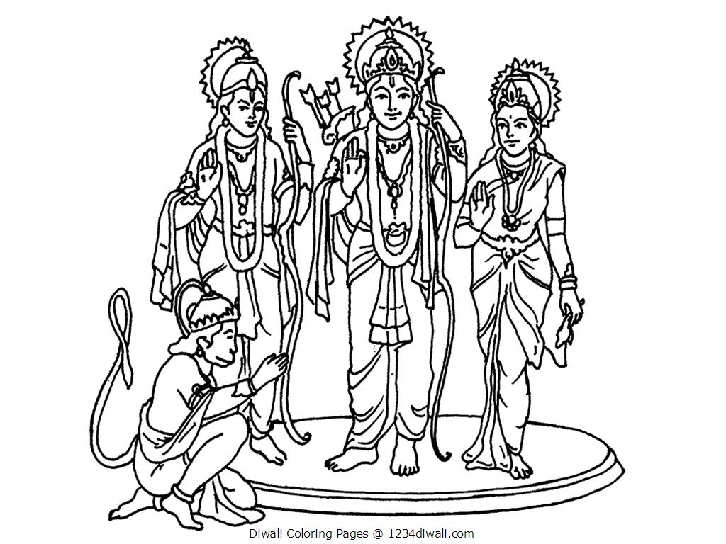 diwali coloring pages printable virtren com