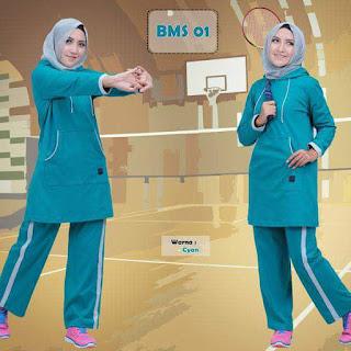 kaos-olahraga-wanita-BMS01-cyan