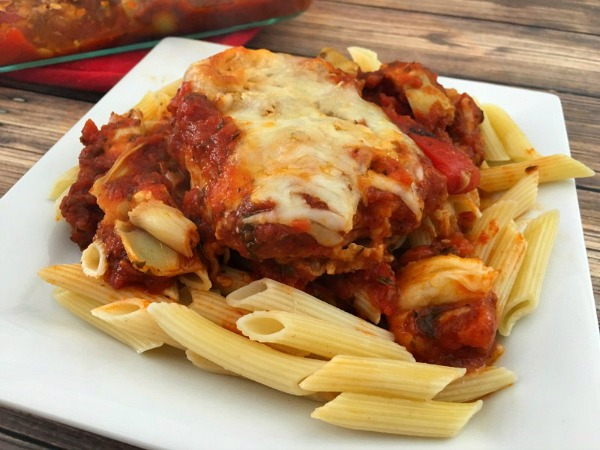 Easy Chicken Parmesan from Teaspoon of Goodness