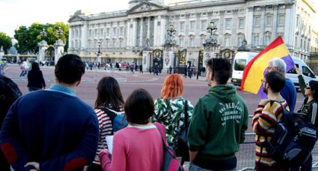 Republicanos protestan contra la visita del rey Felipe VI a Londres