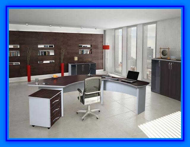 Muebles de oficina con tablero melamina web del for Muebles de oficina para 4 personas