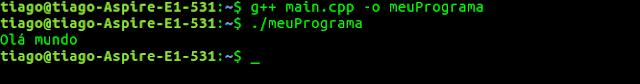 Compilando programa em C++
