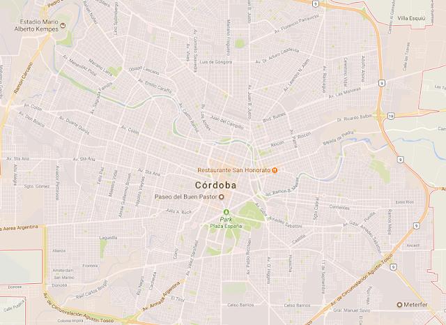 Mapa turístico de Córdoba