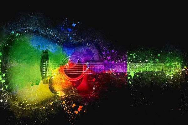 ilustrasi gitar yang sudah sempurna stem dan setel