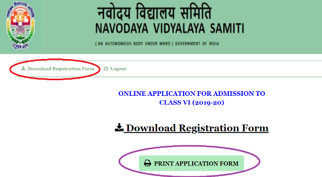 The candidates who have submitted Online Application Form for Jawahar Navodaya 6th Class Entrance Exam 2019 they may Download Registration Form Now. Download Submitted Application form for 6th class Navodaya Entrance Exam from official website www.navodaya.gov.in How to Download Online Registration form of Navodaya VI Class Entrance Exam Take Printout of Navodaya Online Application/Registrtation form which is already submitted  jnvst-navodaya-6th-class-entrance-exam-online-registration-application-form-download-print-official-website-details