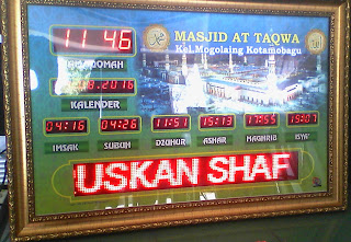 Jadwal Sholat Digital Masjid SULUT