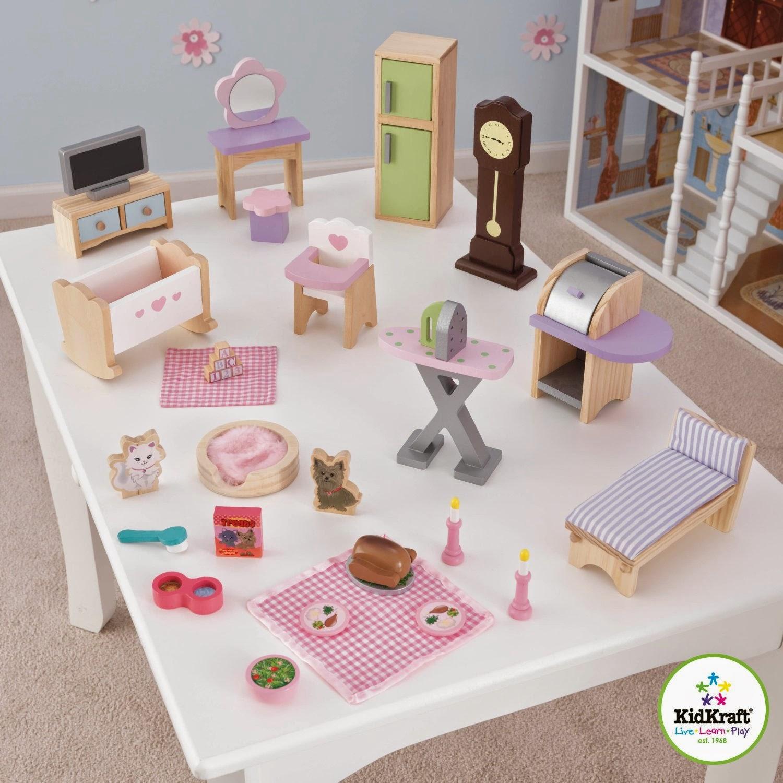 de kidkraft juego de mobiliario de lujo para casa de muecas