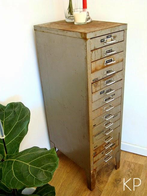 Comprar cajonero antiguo estilo industrial. Venta de muebles industriales en valencia