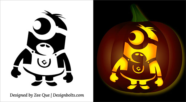Minion Pumpkin Jack O Lantern Stencils Carving Pattern: ideas for pumpkin carving templates