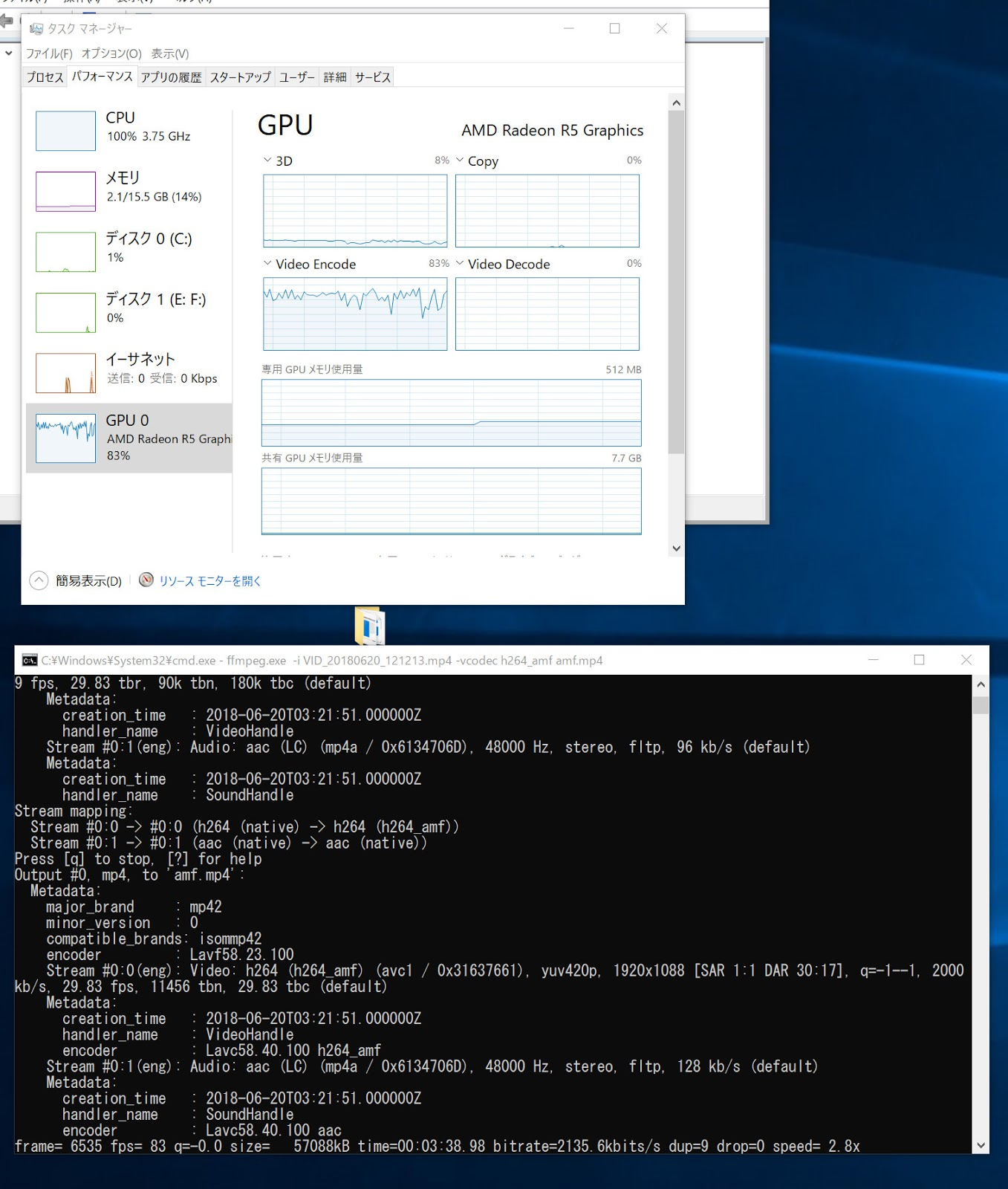 Ffmpeg gpu acceleration encoding in reading
