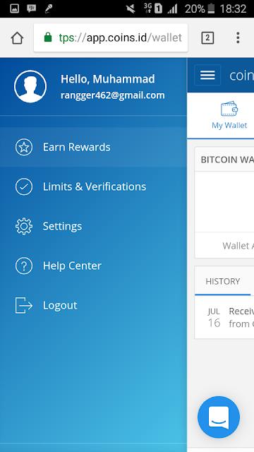 Trend : Coins.id Berikan 0.001 Bitcoin Gratis Untuk Pendaftar Baru