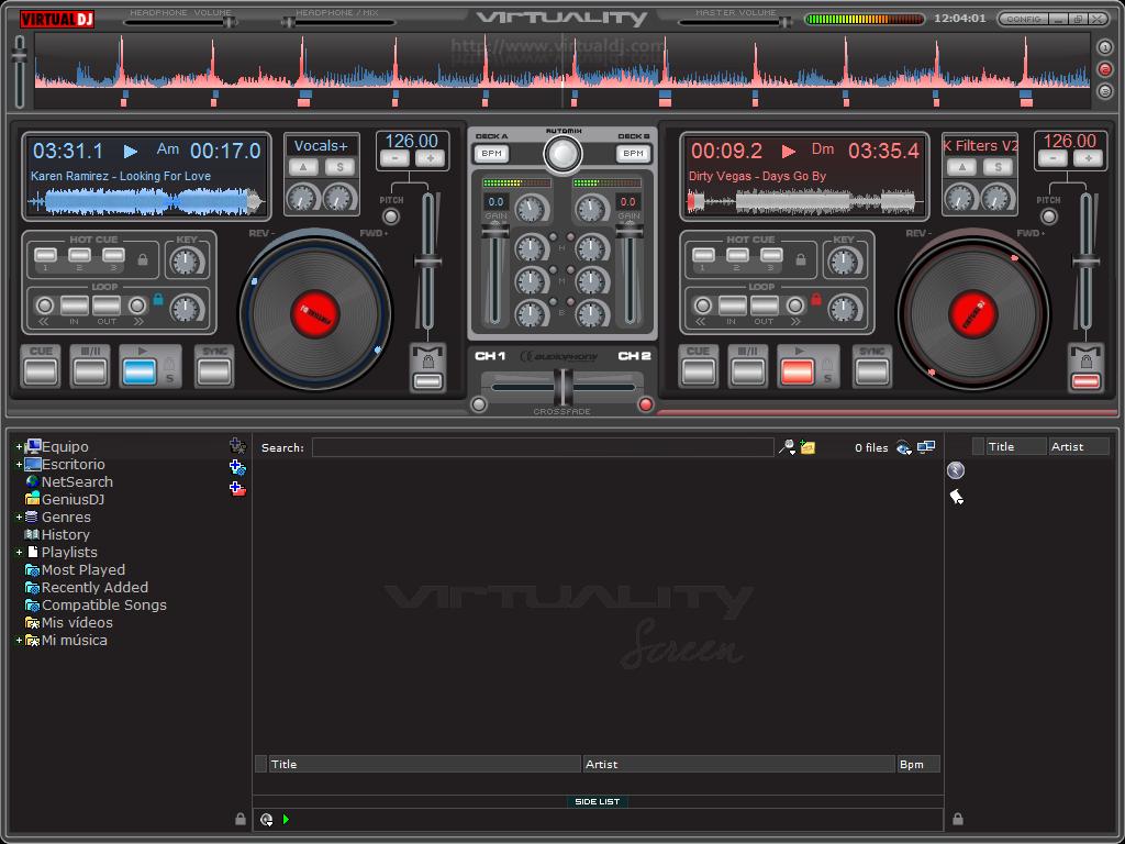 virtual dj compatible songs