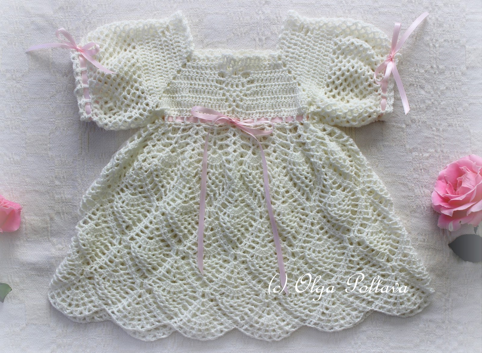 Lacy Crochet: Whipped Cream Dress, Free Pattern from Leisure Arts