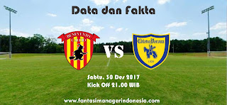 Data dan Fakta Liga Fantasia Benevento vs Chievo Fantasi Manager Indonesia